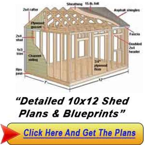 Free 10x12 Shed Plans by 10 215 12 Shed Gambrel Shed Plans Build The Shed That You