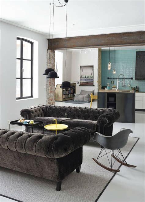 Sofas Interior Design by Interior Design Tips Blue Velvet Chesterfield Sofa