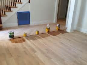 minwax floor stains for white oak flooring far left just polyurethane second from left gray
