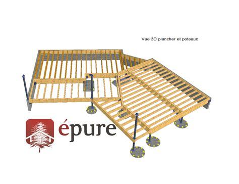 vue 3d structure plancher maison ossature bois cransac epure bois