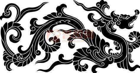 【ai】古典雕刻龙 黑色龙_图片编号:201106010354460923_智图网_www.zhituad.com