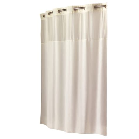 hookless polyester beige solid shower curtain on popscreen