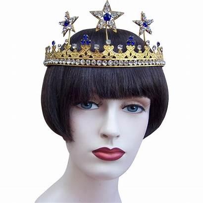 Headdress Stars Accessory Metal Edwardian Gilt Tiara