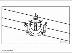 Coloring page flag Brunei img 6275