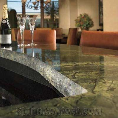 Verde Bamboo Granite Countertop from United States
