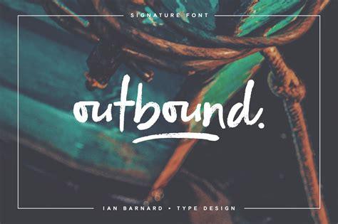 outbound signature font script fonts creative market