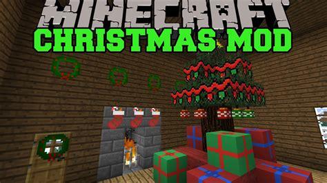 minecraft christmas mod santa gives you presents
