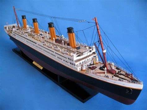 RMS Titanic 40u0026quot; - Titanic Model Cruise Liner - Wooden Cruise Ship RMS Replica | EBay
