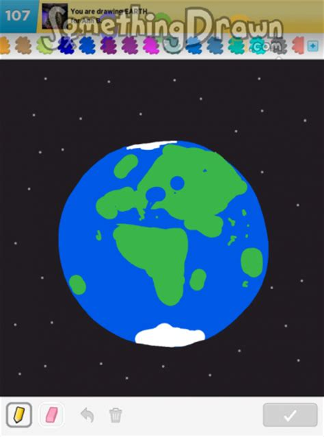 SomethingDrawn.com - EARTH drawn by yordan on Draw Something