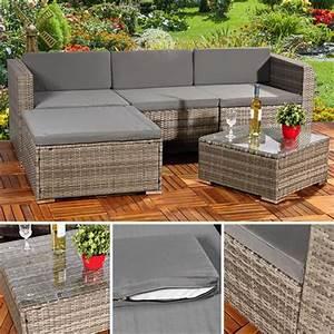 Polyrattan Lounge Set Grau : polyrattan gartenlounge gartengarnitur sofa grau ~ Indierocktalk.com Haus und Dekorationen