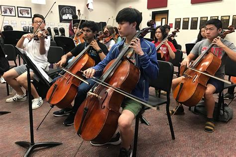 parents students orchestra program wingspan