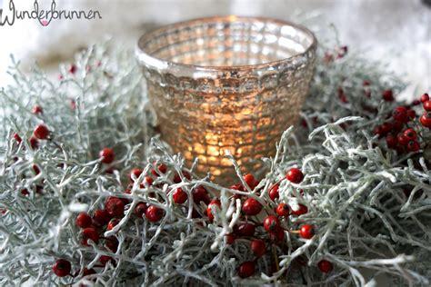 winter deko ideen winterliche vorweihnachts deko wunderbrunnen