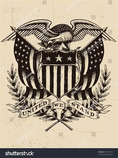 Eagle American Drawn Hand Vector Shutterstock Illustration