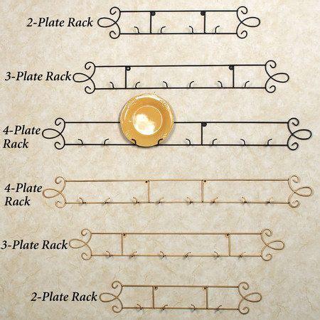 augusta horizontal petite wall plate rack plate racks plates  wall plate rack wall