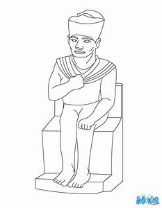 Pharaoh Khufu For Children Coloring Pages Hellokidscom