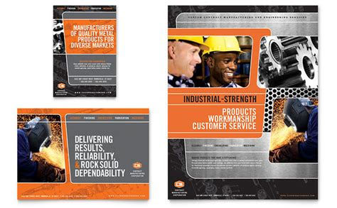 manufacturing engineering flyer ad template design