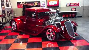 Show Car Finish 1934 Ford Truck With Blown Hemi At
