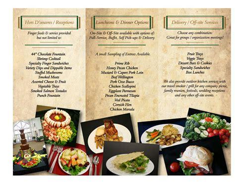 copper pot catering brochure  behance
