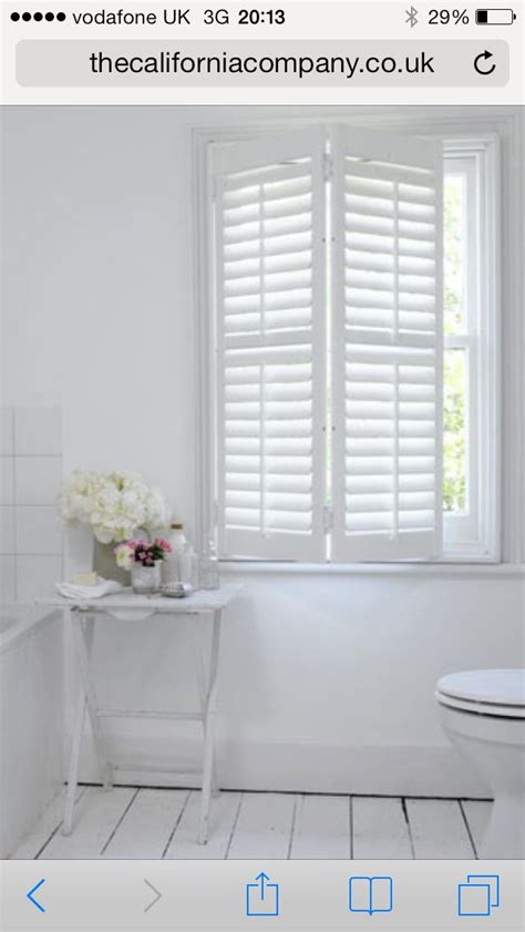 Small Bathroom Blinds by White Window Shutters Better Then Blinds And Protect