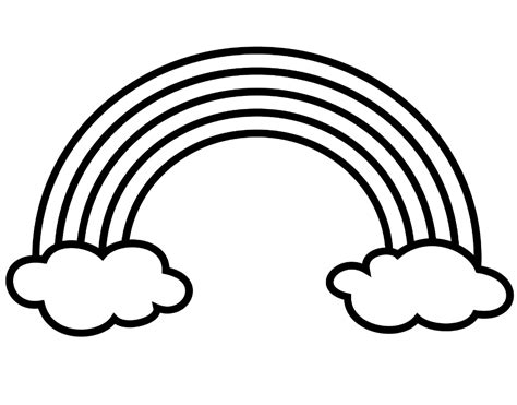 Coloring Pages Of Rainbows by Rainbows Coloring Pages