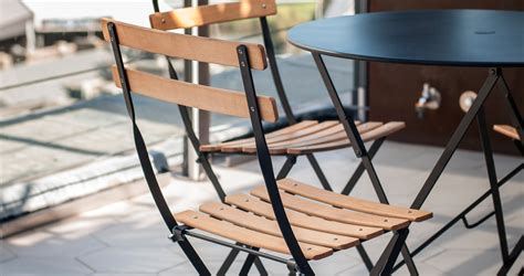 chaise metal et cuir bistro table 77 cm metal table outdoor furniture