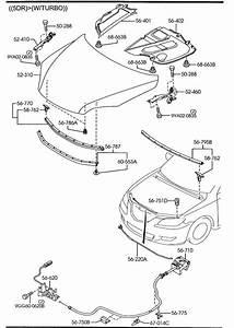 2012 Mazda Mazda 3 Insulator  Hood