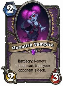 Gnomish Vampire Card Reveal Knights Of The Frozen Throne
