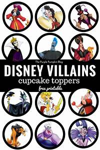 Disney Villains Cupcake Toppers - Free Printables!
