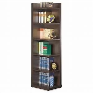 Coaster Corner Bookcase with Open Side in Cappuccino - 800270