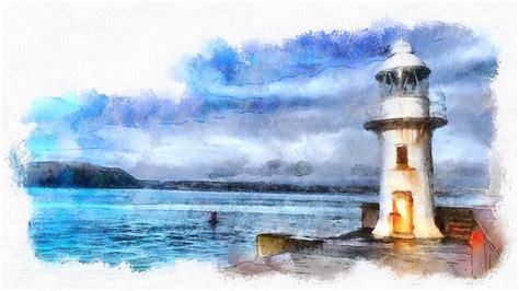 kostenlose illustration brixham leuchtturm meer