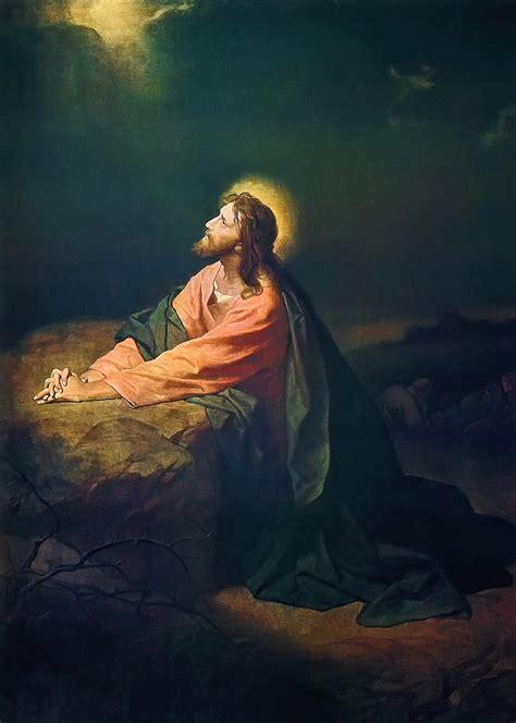 jesus in the garden of gethsemane now and then heinrich hofmann
