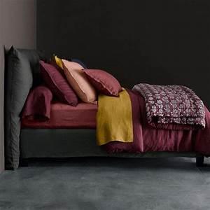 La Redoute Maison Ampm : am pm linge de lit elina en lin lav am pm la redoute couleurs berry crushed berry ~ Melissatoandfro.com Idées de Décoration