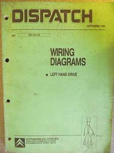 Citroen Dispatch Wiring Diagram Manual Lhd 1995 Bre0132gb