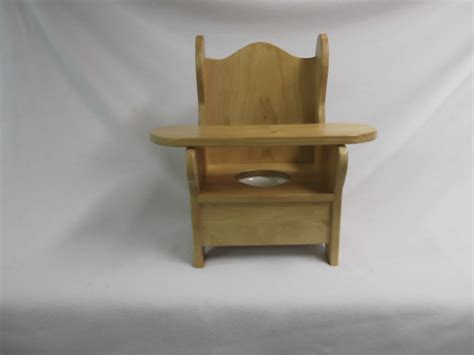 wooden potty chair with tray by wonderwoodshop on etsy