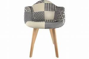 Chaise Scandinave Avec Accoudoir : chaise scandinave avec accoudoir patchwork bicolore norway design sur sofactory ~ Teatrodelosmanantiales.com Idées de Décoration