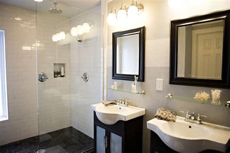 glass shower partition traditional bathroom kara