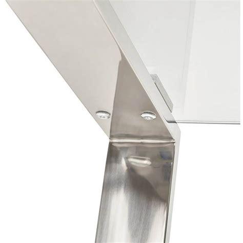 bureau acier et verre bureau droit table design et contemporain ingrid en verre