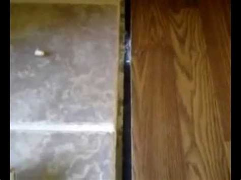 t moulding installation how to install t molding on a concrete floor youtube