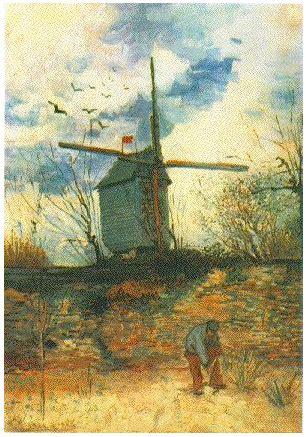 le moulin de la galette  vincent van gogh  painting