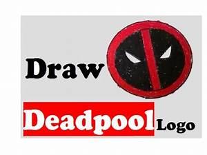 how to draw Deadpool Logo step by step Deadpool Logo easy ...