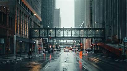 Street Fog Architecture Background Movement 1080p Fhd