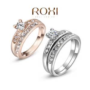 cheap wedding ring sets cheap engagement rings fashion white gold plated rings set with zircon fashion