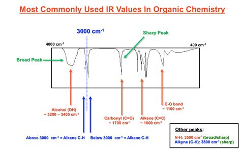 Most Commonly Used IR Spectroscopy Values In Organic ...