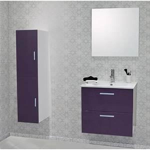 meuble de salle de bain malea avec caisson 80 slim With caisson salle de bain