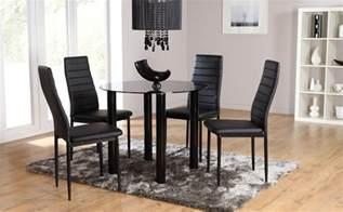 glass dining room table set solar lunar glass dining room table and 2 4 chairs set black ebay