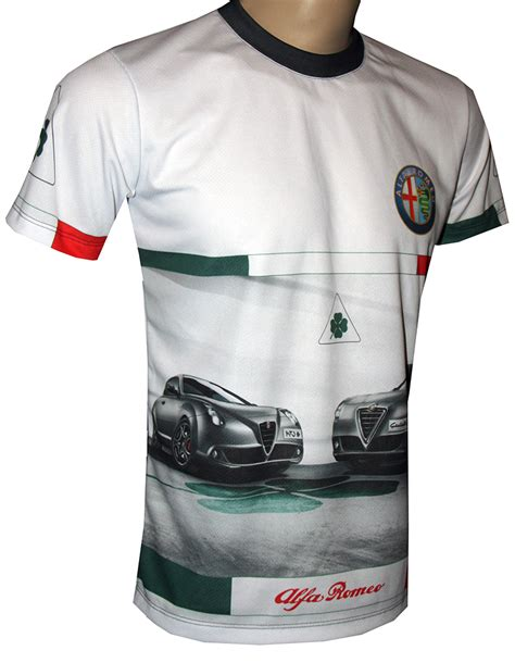 Alfa Romeo Guilietta Tshirt With Logo And Allover