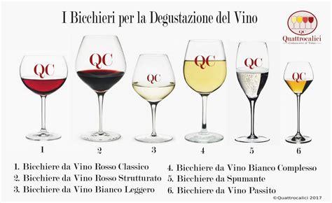 bicchieri per la i bicchieri per la degustazione quattrocalici