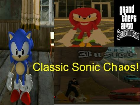 gta san andreas sonic mod classic chaos pc gameplay