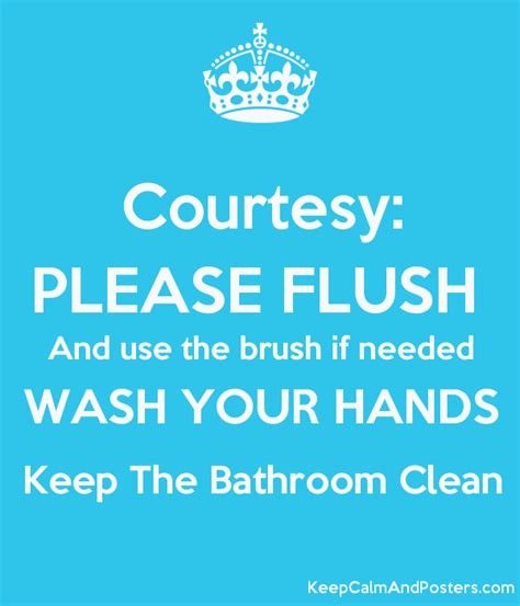 keep this bathroom clean sign just b cause