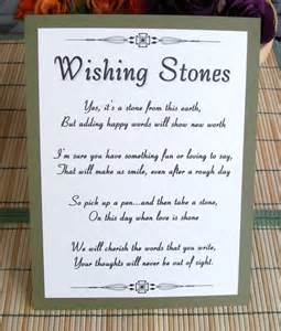alternative wedding guest book ideas wishing stones sign customize for your event